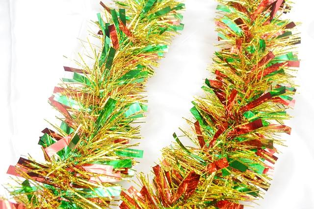 New arrival High quality 200cm ribbon shining ribbon Christmas hanging Decoration