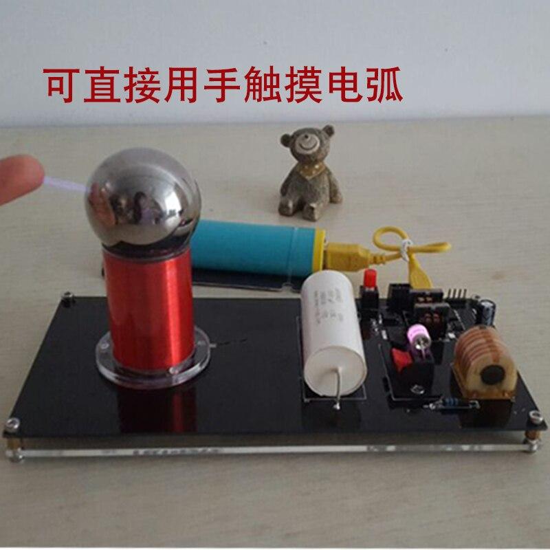 (Pas d'alimentation) Super Mini générateur de foudre artificiel Mini bobine Tesla haute efficacité de Conversion expériences scientifiques - 3