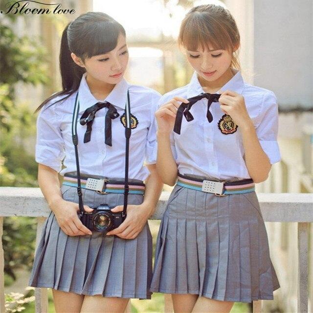Новая мода школьная Униформа класса Костюмы Академизм школьная одежда рубашка + платье Британская школа на осень-зиму форма x01