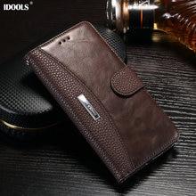 Для Sony Xperia XZ Премиум Чехол IDOOLS Оригинальный Роскошный Кожаный PU бумажник Обложки Телефон Сумки Случаи для Sony XZ Премиум XZP E5563
