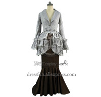 Victorian Lolita Edwardian Bustle Tea Party Punk Lolita Dress Outfits Full Set Classical Dress High Qulity Charming For Party
