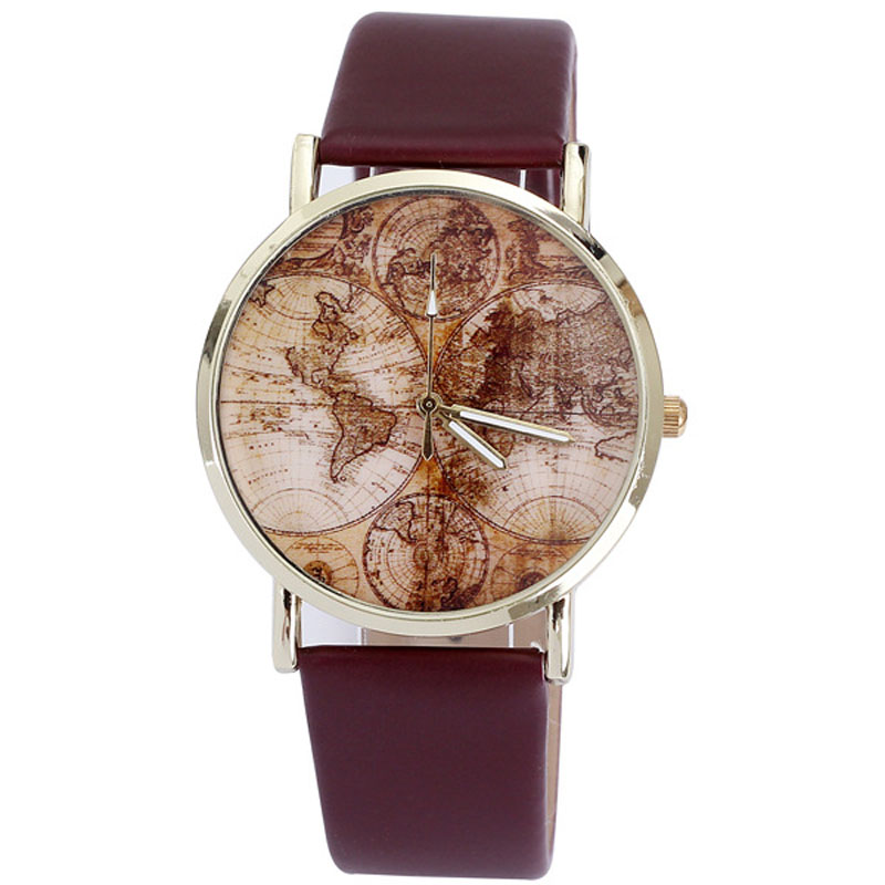 Casual Watch Clock Feminino Vintage New-Fashion Lady Quartz PU Punk-Style Big-Sale Relogio