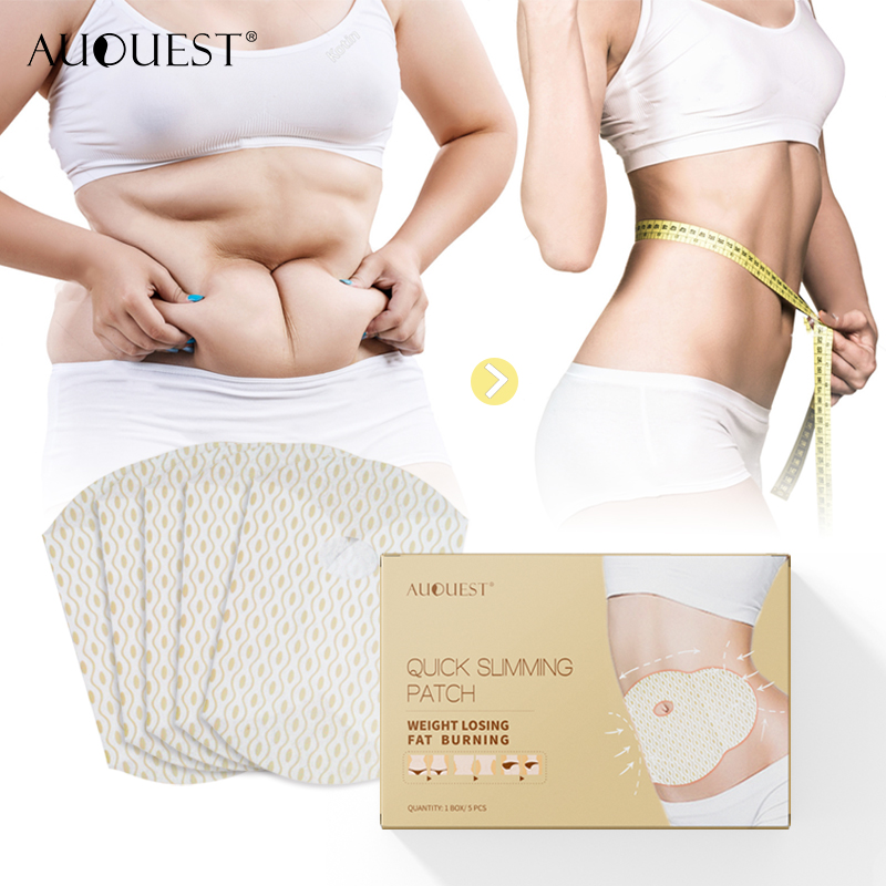 AuQuest Slimming Patch Stomach Cellulite Fat Burner Weight Loss Waist Belly Slim Patch Body Control Navel Sticker Mujer Box
