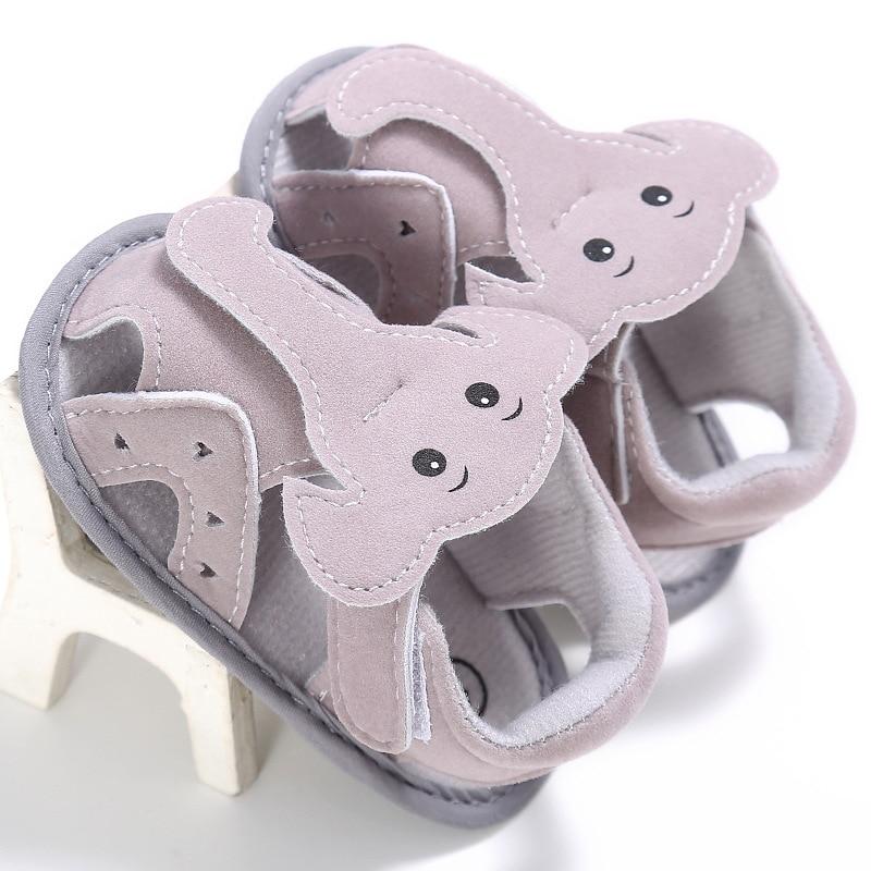 Elephant Flats Soft Bottom 2017 Summer Baby Boy Sandals Cute Newbron Boys Shoes Toddler Boys Shoe With Light YD213