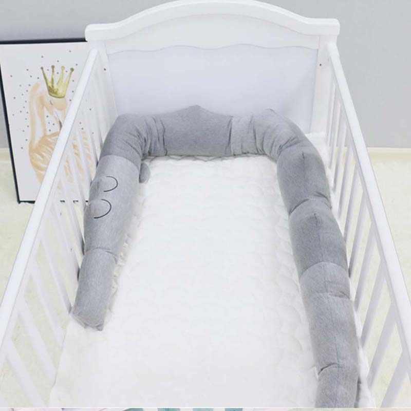 سرير بيبي الوفير 185 سنتيمتر دمية التمساح وسادة وسادة حامي الحضانة الفراش الوليد الكرتون النوم لعبة الرضع غرفة ديكور