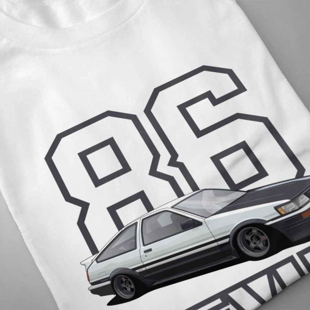 Автомобиля футболка Для мужчин Toyota Corolla AE86 Левин 4AGE Touge футболка 2019 Изделие из хлопка с короткими рукавами плюс Размеры футболка подарок на день рождения Футболка