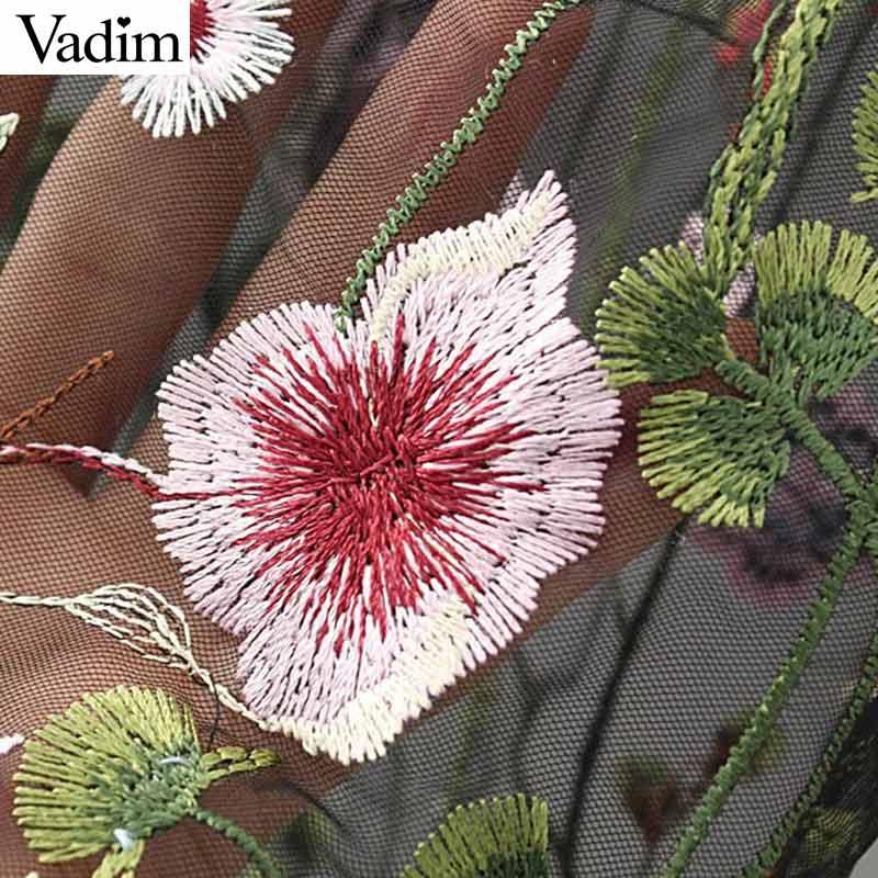HTB1txYAPFXXXXXOXFXXq6xXFXXXe - Women sweet flower embroidery mesh shirts sexy transparent