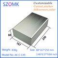 10 stücke szomk elektronische projekt box fall aluminium pcb gehäuse diy aluminium verstärker fall 88*167*250mm-in Steckverbinder aus Licht & Beleuchtung bei