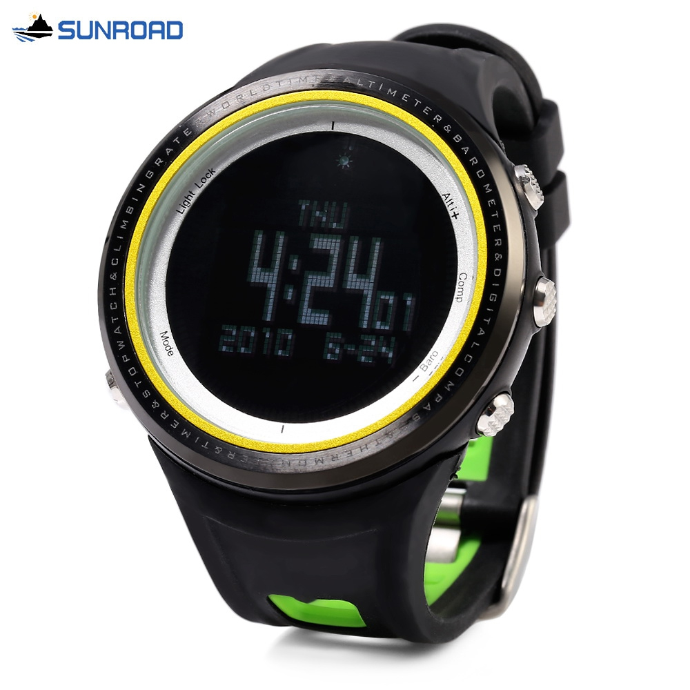 SUNROAD FR800NB Multifunctional Digital Sports Watch Altimeter Barometer Pedometer Wristwatch ботинки для мальчика reima черные