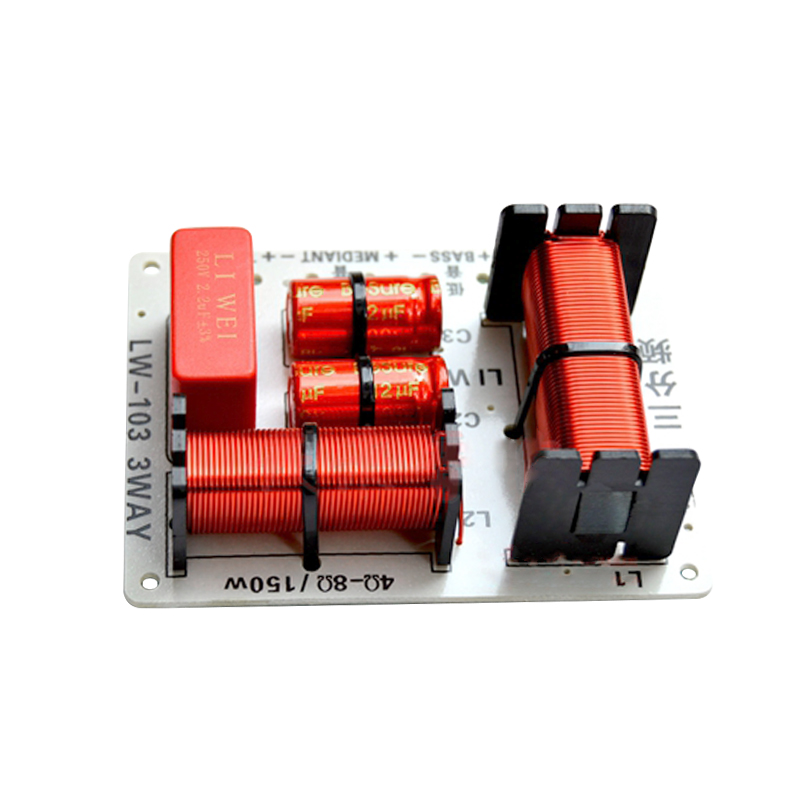2Pcs 200W Audio Speaker 3 Way Crossover Treble Bass Frequency Divider Filter