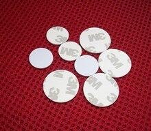 10pcs/lot 125khz T5577/T5567 Rewritable RFID Card 3M Adhesive Coin Card RFID Copy Clone Card (25mm)