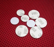 Free Shipping 10pcs/lot 125khz T5577/T5567 Rewritable RFID Card 3M Adhesive Coin Card RFID Copy Clone Card (25mm)