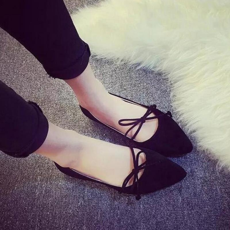 high quality 2018 Women Shoes Woman Flats suede Casual Comfortable pointed toe Rubber Women Flat Shoe Hot Sale New Flats #0910 цена 2017