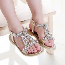 Coréen D'été Princesse Strass Enfants sandales Filles école de Diamant Enfants Chaussures De Danse Poissons Bouche Filles En Cuir Sandales TX213