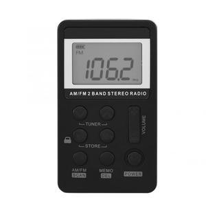 Image 3 - Radio FM AM PORTÁTIL ESTÉREO de doble banda Mini receptor de Radio de bolsillo con pantalla LCD y auriculares y batería recargable