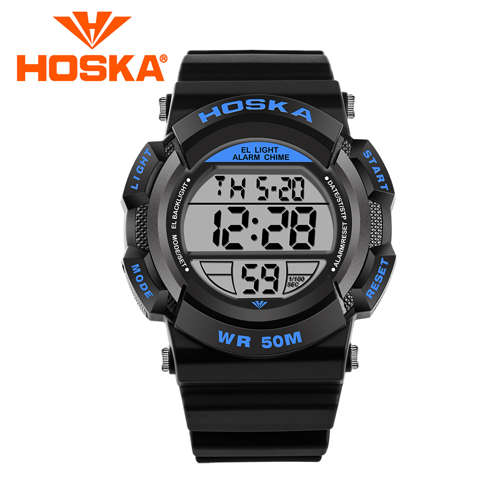 Brand Hoska Childrens Sport Quartz Watch Boys Student Watches Girl Jam Tangan Anak2 2017 Merek Anak Kuarsa Menonton Mahasiswa Laki Digital