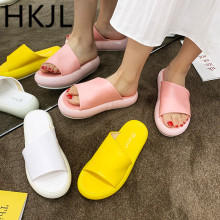 HKJL 2019 Europe station new style platform slippers summer women wear open-toe outside A697