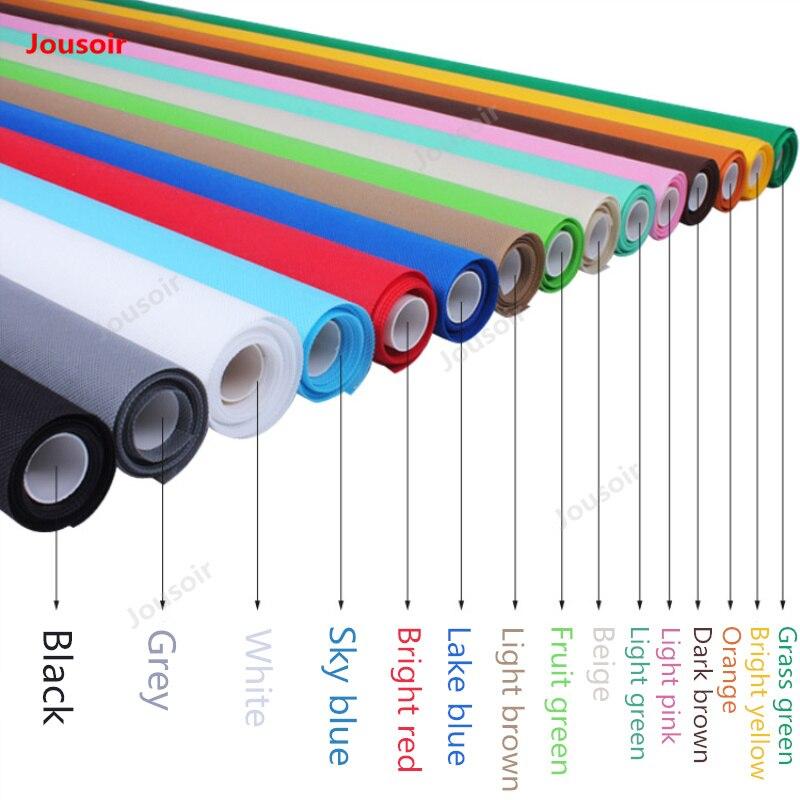 Non-tissé tissu Photographique fond tissu largeur 1.6 m coloré photo d'identité solide multi couleurs milieux CD50 T10