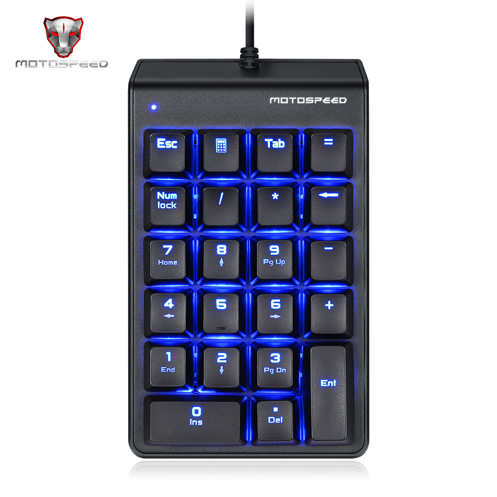 Motospeed k22 механические рыжая ведьма цифровой мини клавиатура Проводная Подсветка клавиатуры 22 ключи Numpad Расширенный макет для офиса