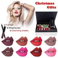 2017 12 Colors Matte Lipstick Lip Gloss 12 Color Lipliner Set Sexy Pencil Red Long Lasting