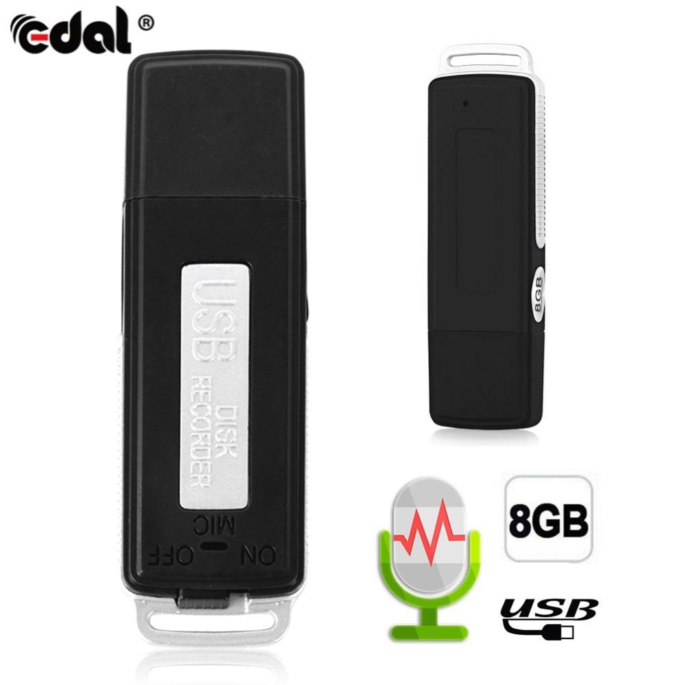 EDAL Mini 8GB USB Recording Pen Flash Drive Disk Digital Audio Voice Recorder 70 Hours Portable Mini Recording Dictaphone