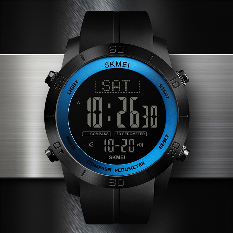 SKMEI Compass Sports Watches Dual Time Metronome Calorie Ped
