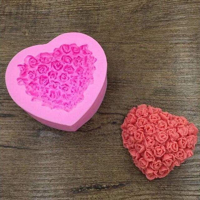 Herz Rose Geformt Silikon Kuchen Form Valentinstag Kreative 3d Rose