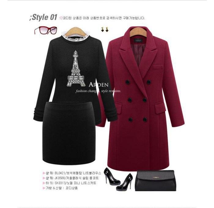 Autumn Winter Coat Women 19 Casual Wool Solid Jackets Blazers Female Elegant Double Breasted Long Coat Ladies Plus Size 5XL 10