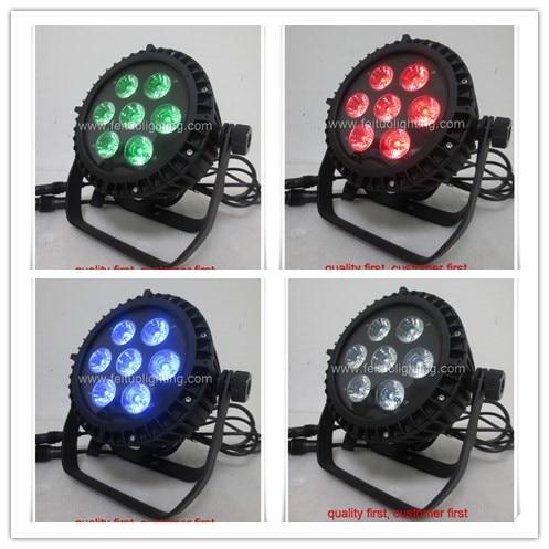 A- 10/lot IP65 waterproof 7x10W RGBW 4in1 Quad led par Light Stage DJ Disco Show Par led