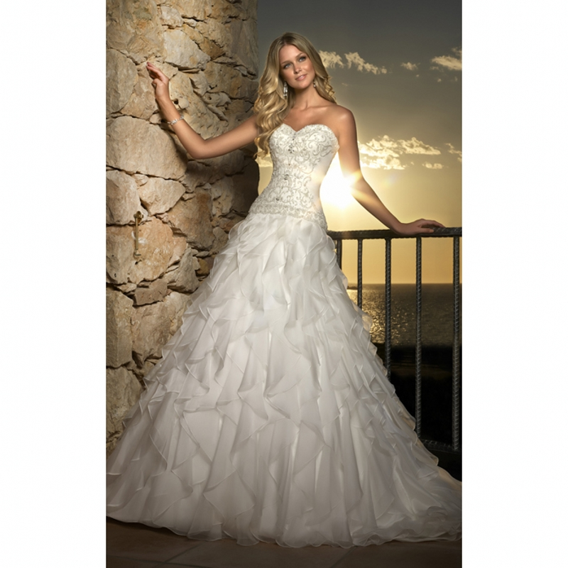 Popular Sweetheart Drop Waist Wedding Dress-Buy Cheap Sweetheart ...