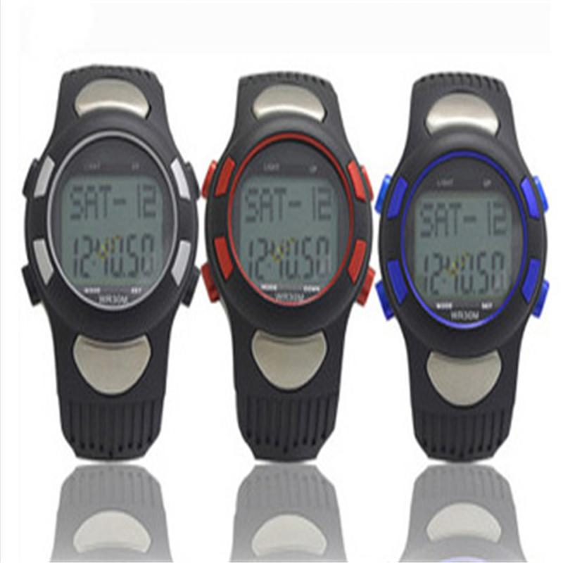 2015 Men Women Sports GYM Running Hunting Digital Watch Fitness 3D Pedometer Calories Counter Pulse Heart Rate Monitor ezon pedometer optical sensor heart rate monitor alarm calories men sports watches digital watch running climbing wristwatch