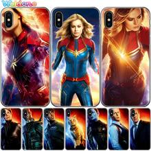 Fashion Goose Cat Captain Marvel The Avengers Phone Case For iPhone XS Max XR X 7 6s 8 Plus 5S SE case Cover etui Coque