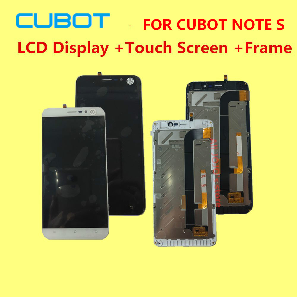original FOR CUBOT NOTE S LCD Display Touch Screen Frame Digitizer Assembly Replacement Accessories 5 5