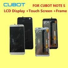 Оригинальный для Cubot Note S ЖК-дисплей Дисплей + Сенсорный экран + Рамка планшета Ассамблеи Замена Интимные аксессуары 5.5″