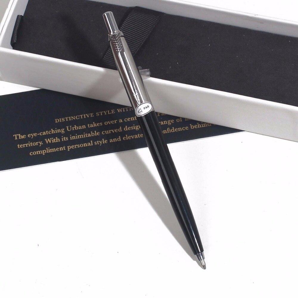 JOttering RollerBall Pen Office School Ink Pen With Box Gift Black Red Grey Metal Roller Pen Black