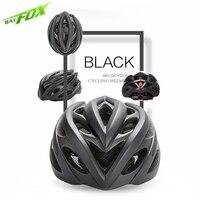BATFOX Bicycle Helmets Matte Black Men Women Bike Helmet Mountain Road Mtb Helmet Light Bike Integrally