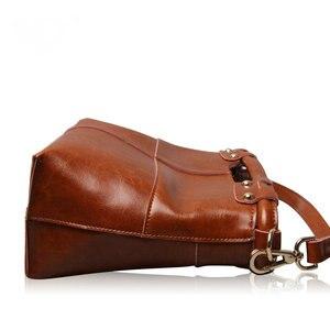 Image 5 - Brand New Fine design Cowskin handbag women casual tote bag fashion Genuine leather shoulder bags female handbag A37
