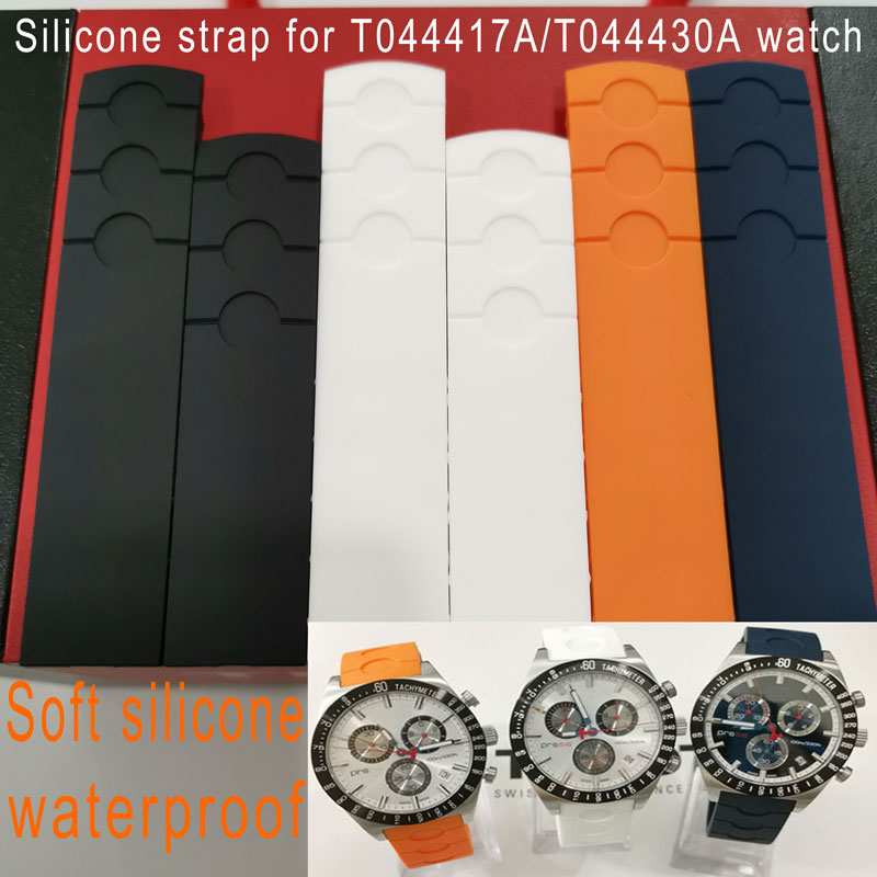 20mm Watchband For T044417/T044430A Silicone Belt 1853 PRS516 Silicone Rubber Strap Waterproof Arc Rubber T044.417A Bracelet