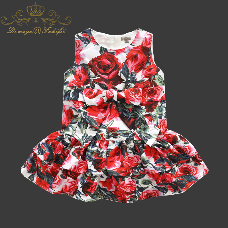 Promotion Summer 2018 Fashion Children Clothing Kids Flower Party Dress Princess Costume Vestidos Toddler Kid Baby Girls Clothes autumn girls lace dress children clothing party sets fashion princess toddler girl dresses tutu baby suit vestidos kids clothes