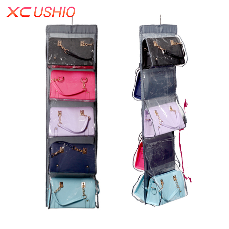 10 Grids Women Handbags Storage Bag Oxford Hanging Storage Organizer Fashion Ladies Bags Organizer Dustproof Storage Bag