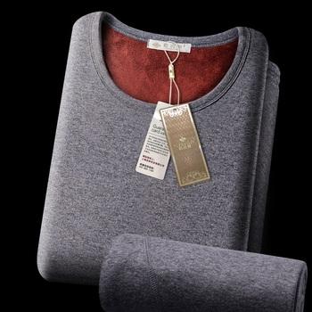 Gorąca sprzedaż 2018 nowa bielizna termiczna dla mężczyzn kalesony zima kobiety termo koszula + zestaw spodni ciepły gruby polar rozmiar L-XXXL tanie i dobre opinie ANJOYFREEDOM CN (pochodzenie) xy-215 Long Johns Poliester COTTON
