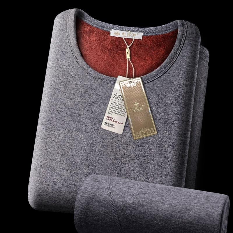 Offre spéciale 2018 nouveau sous-vêtement thermique pour hommes longs Johns hiver femmes Thermo chemise + pantalon ensemble chaud épais polaire taille L-XXXL