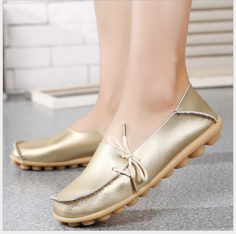 20 Colors Spring Women Genuine Leather Mother Shoes Moccasins Women's Soft Leisure Flats Female Driving Shoes Flat Loafers