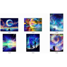 diamond painting love you to the moon full drill 5d diy cross stitch galaxy embroidery landscape NEW TOOL