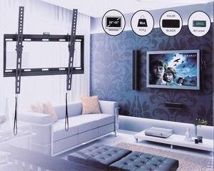 Image 2 - Универсальный Наклонный плазменный ЖК светодиодный настенный кронштейн для телевизора ultra HD, подходит для 26 55 дюймов, максимальная поддержка 40 кг, вес Vesa 400x400 мм