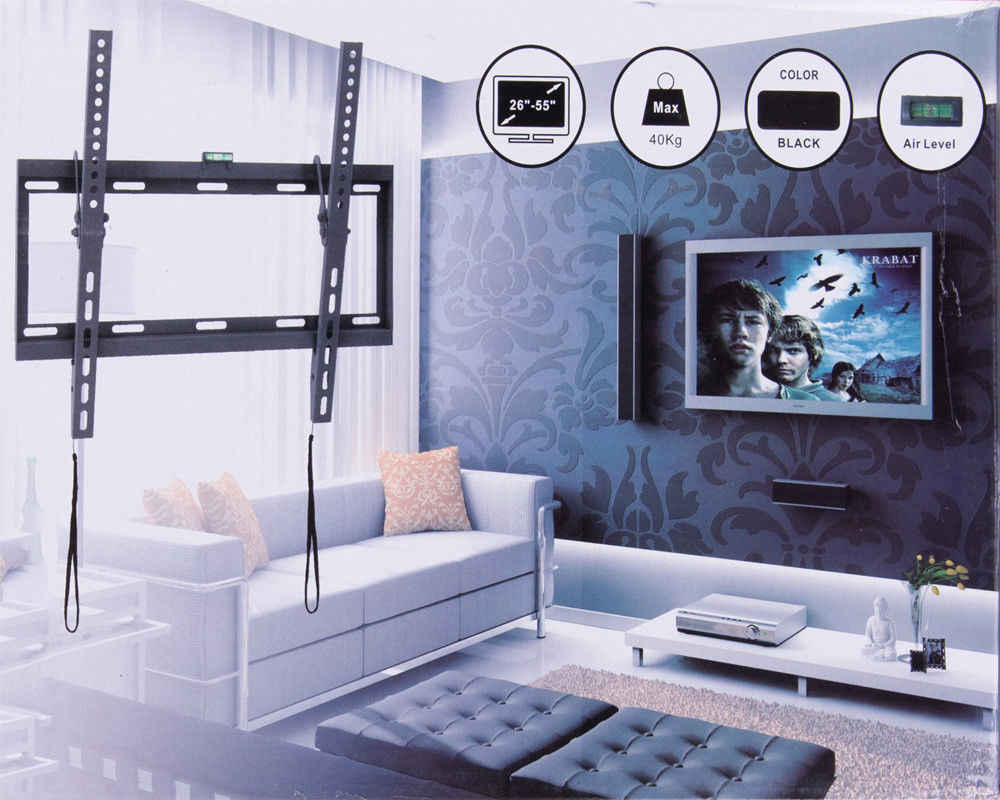 """العالمي إمالة البلازما LCD LED فائقة HD رف لتثبيت التليفزيون على الحائط صالح ل 26 """"-55"""" ماكس دعم 40 كجم الوزن vesa 400x400 مللي متر"""