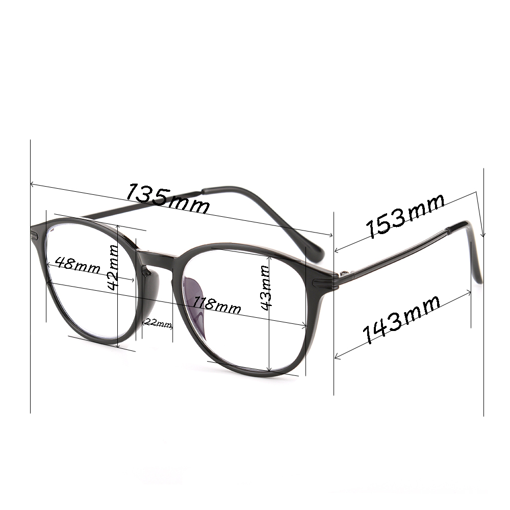 Gudzws Computer TV Reading Glasses Anti Blue light Readers Reduce Eyestrain Retro Stylish Round Frame Black with Hard Case Unisex 1.50