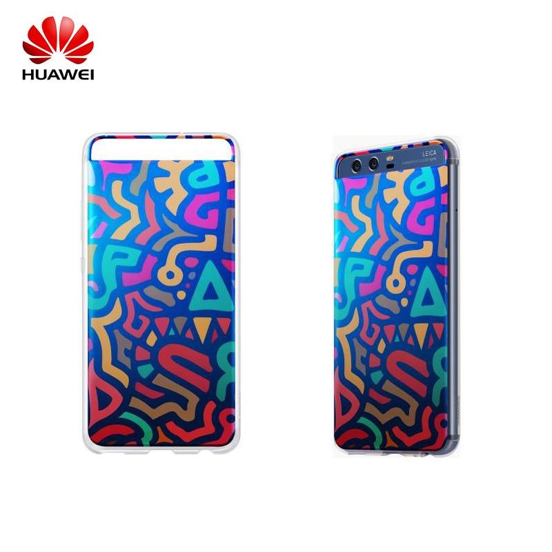 imágenes para Caso Oficial Caja Colorida Para Huawei Huawei Original P10 P10 Suave Coque con Garabato Patrón Tpu Para Huawei P10 P10 Plus