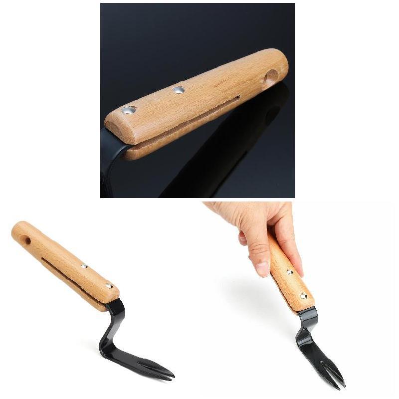 Недавно Раздвоенная головка ручной Съемник из углеродистой стали лопата против сорняков садовый дворовый инструмент для обрезки TE889