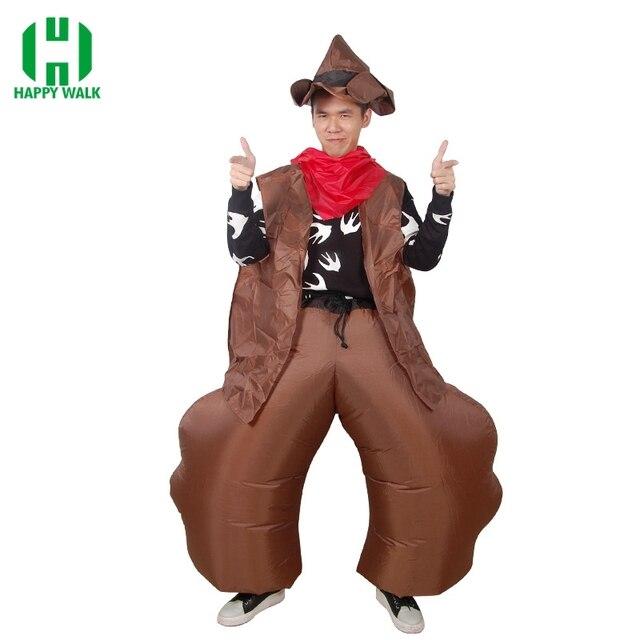 e3eaa28be5 Halloween inflable vaquero traje para hombres y mujeres adultos vaquera Ole  vaca Cosplay vestido gracioso volar